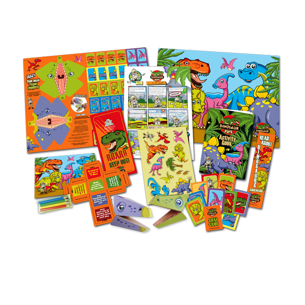 Mega Dinosaur Theme Activity Pack [Box of 10]