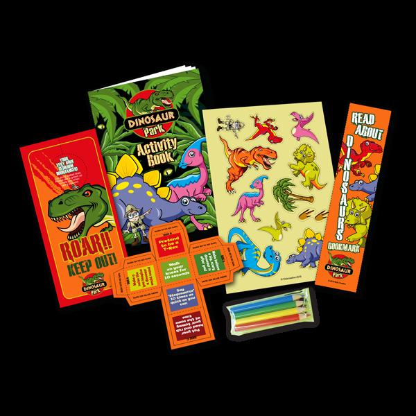 Mini Dinosaur Theme Activity Pack [Box of 10]