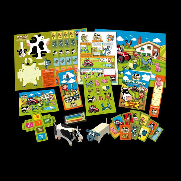 Mega Farm Theme Activity Pack [Box of 10]