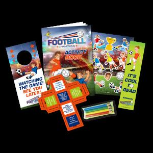 Mini Football Theme Activity Pack [Box of 80]