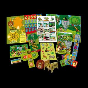 Mega Jungle Theme Activity Pack [Box of 40]