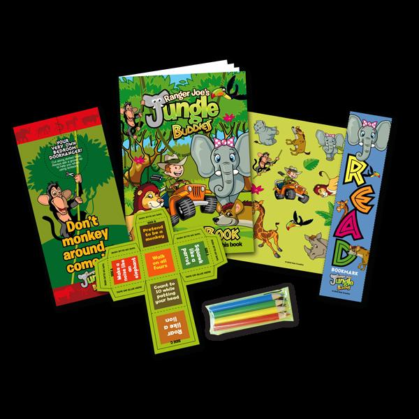 Mini Jungle Theme Activity Pack [Box of 10]