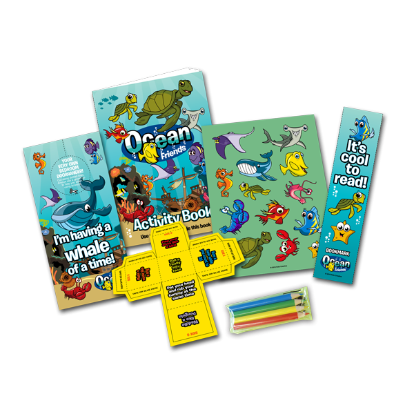Mini Ocean Theme Activity Pack [Box of 10]