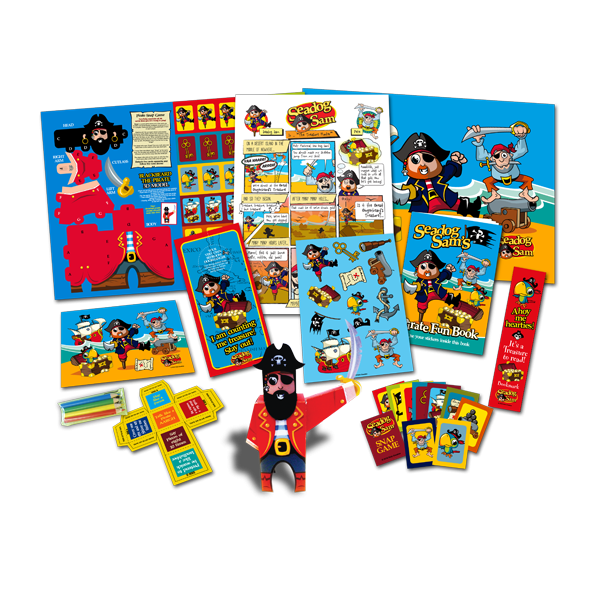Mega Pirate Theme Activity Pack [Box of 10]