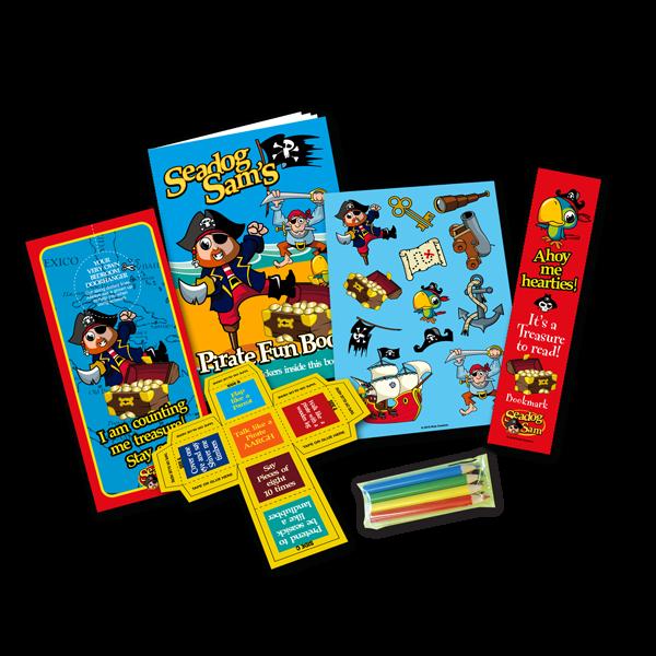 Mini Pirate Theme Activity Pack [Box of 10]