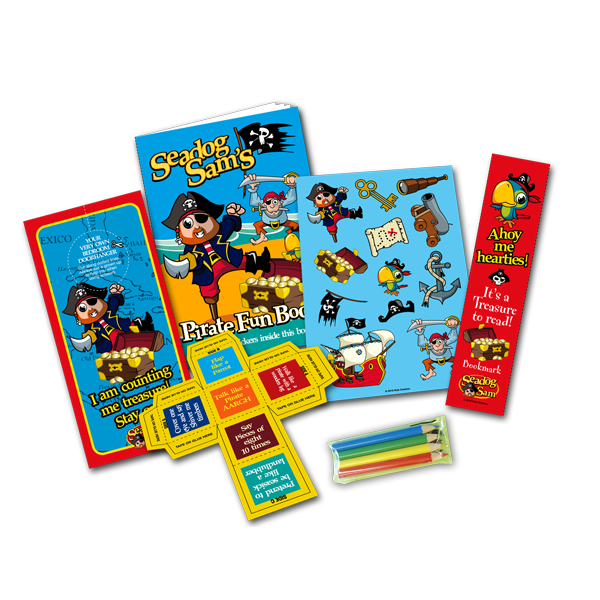 Mini Pirate Theme Activity Pack [Box of 10]