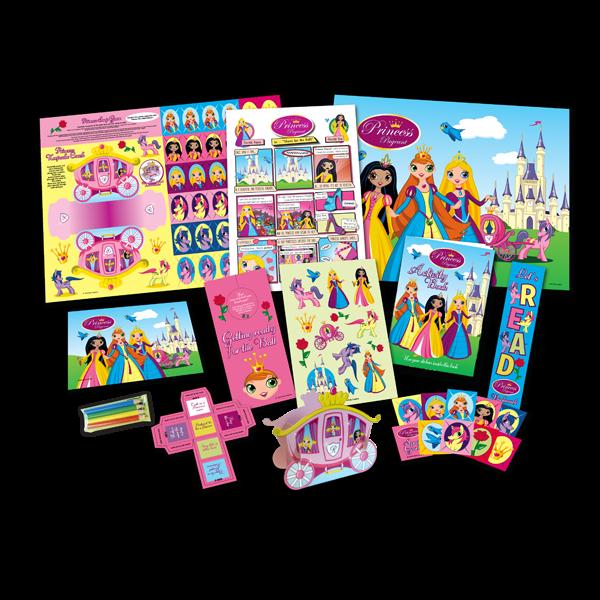 Mega Princess Theme Activity Pack [Box of 10]