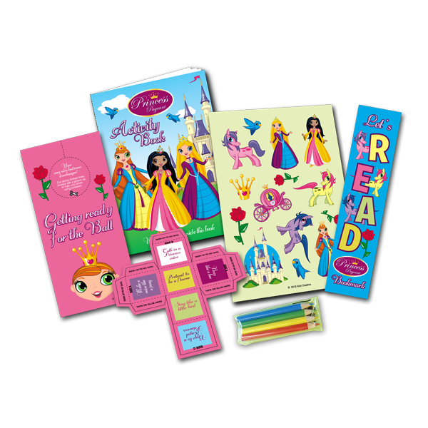 Mini Princess Theme Activity Pack [Box of 10]