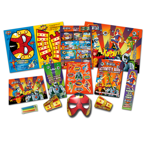 Mega Superhero Theme Activity Pack [Box of 10]