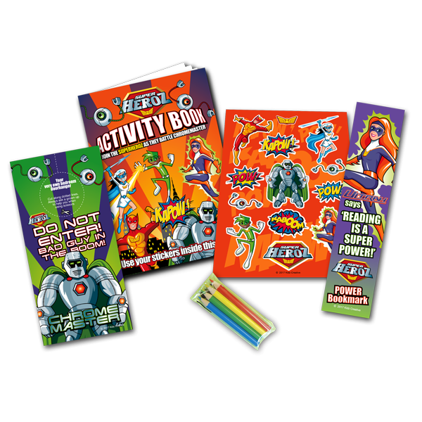 Mini Superhero Theme Activity Pack [Box of 80]